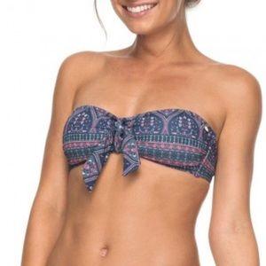 Sun Surf ROXY Medallion Knot Bandeau Bikini Top